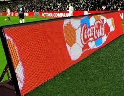 Cina Tampilan luar ruangan P10 Perimeter LED / LED Advertising Board Untuk Football Field Advertising Distributor